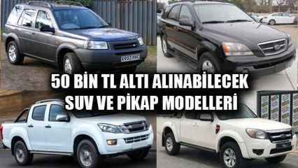 50 bin TL altı satın alabileceğiniz ikinci el SUV ve pikap araç modelleri