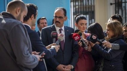 İbrahim Kalın: YPG'li teröristlere paye çıkarılmaya çalışılıyor