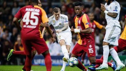 Galatasaray zorlu Madrid deplasmanında
