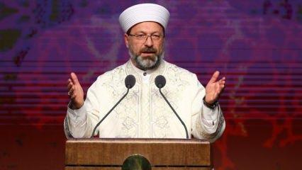 Erbaş'tan destek mesajı: İnsani ve İslami vazifemizdir