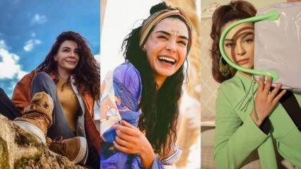 Hercai'nin yıldızı Ebru Şahin'in stiliyle şık olmanın yolları
