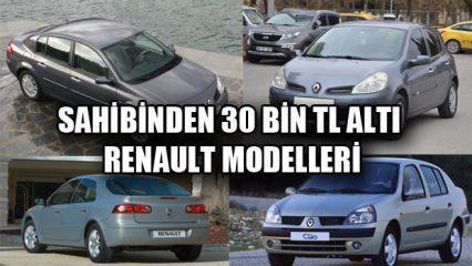 30 bin TL altı ikinci el satılık Renault araç modelleri! İşte uygun araç modelleri