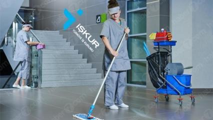 İŞKUR'dan ilkokul mezunu temizlik görevlisi alım ilanı!