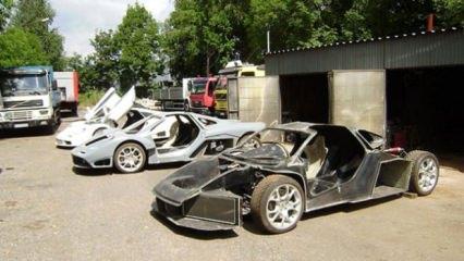 Hurdadan topladığı Mercedes ve Audi parçaları ile kendine McLaren yaptı!