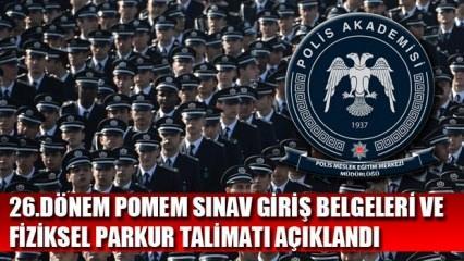 POMEM 26. dönem sınav giriş belgesi yayınladı: POMEM Fiziksel Parkur Talimatı