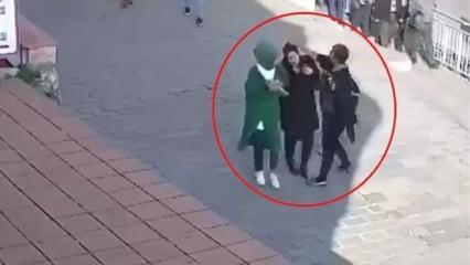 Karaköy'de başörtülü kıza saldıran kadın komşularına kan kusturmuş