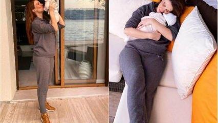 Tülin Şahin 15 günlük bebeğiyle poz verdi!