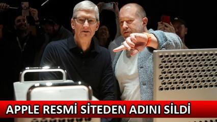 Apple efsane tasarımcısı Jonathan Ive'nin ismi resmi siteden silindi