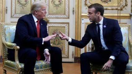 Türkiye'yi suçlayan Macron'a, Trump'tan müthiş ayar