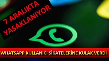 WhatsApp şikayetlere kulak verdi! 7 Aralık itibari ile yasaklanacak