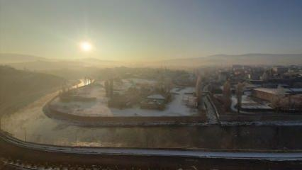 Bir şehir dondu! Termometre -22 dereceyi gördü