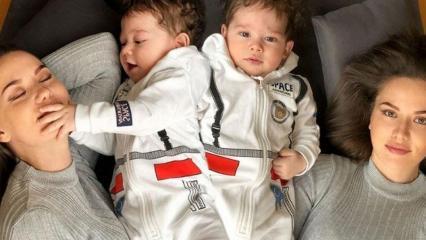 Fahriye Evcen'in oğlu Karan bebek sosyal medyayı salladı! Herkes onu konuşuyor...