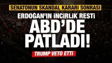 Erdoğan'ın İncirlik resti ABD'de patladı! Trump da veto etti!