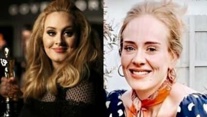 İngiliz şarkıcı Adele verdiği kilolarla dünya gündeminde!