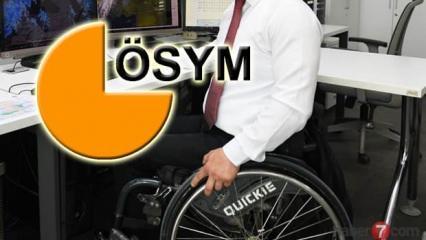 ÖSYM EKPSS 2019/1 engelli memur alımı kura sonuçları açıklandı! ÖSYM sorgu ekranı