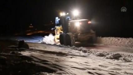30 köy yolu 2 günlük çalışmanın ardından ulaşıma açıldı