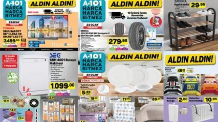 23 Ocak A101 aktüel ürünler kataloğu! Güral Porselen yemek takımı...