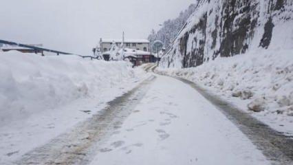 Ayder Yaylası'nda yoğun kar yağışı