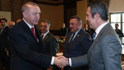 Cumhurbaşkanı Erdoğan Kulüpler Birliği ile görüştü!