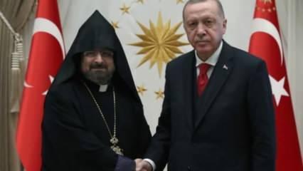 Cumhurbaşkanı Erdoğan Maşalyan'ı kabul etti