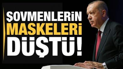 Son dakika: Erdoğan: Şovmenlerin maskesi düşmeye başladı