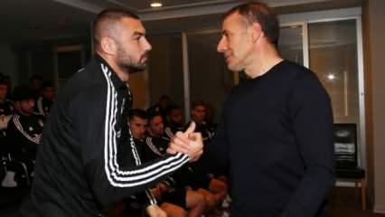 Abdullah Avcı, futbolcularla vedalaştı
