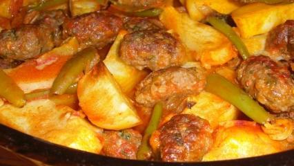 Fırında enfes köfte patates nasıl yapılır?