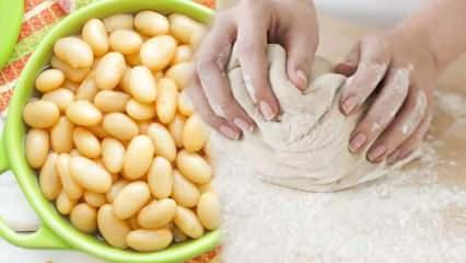Haşlanmış nohut, fasulye ve pirinçten hamur yapmanın püf noktası