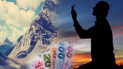 Kısa zamanda borçtan kurtulmak için okunacak dualar! Borç ödeyemeyenlere rızık duası