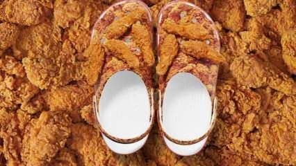 KFC'den tavuk çıtır görselli X Cross ayakkabı