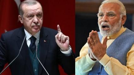 Erdoğan'ın resti Hindistan'ı kızdırdı! Çok çarpıcı Türkiye açıklaması