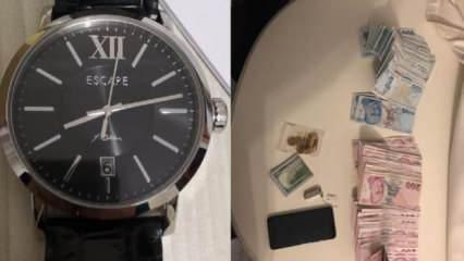 'Gaybubet evi' operasyonu Fetullah Gülen imzalı saat ve zarf zarf para ele geçirildi
