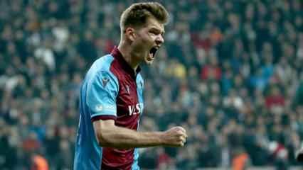 Sörloth, Trabzonspor'u zirvede tutuyor
