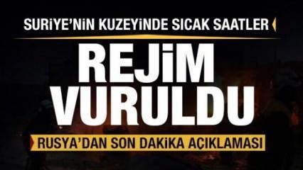 Türkiye Lazkiye'de vurdu! Rusya'dan son dakika açıklaması