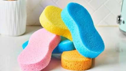 Sünger ile yapılan pratik öneriler, bulaşık süngerinin kullanım alanları