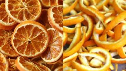 Portakal nasıl kurutulur? Evde sebze ve meyve kurutma yöntemleri