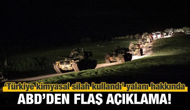 ABD'den Türkiye ve kimyasal silah açıklaması!
