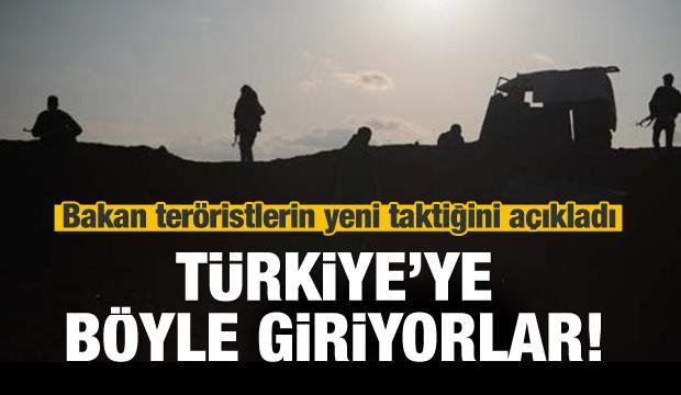 Bakan teröristlerin yeni taktiklerini açıkladı!