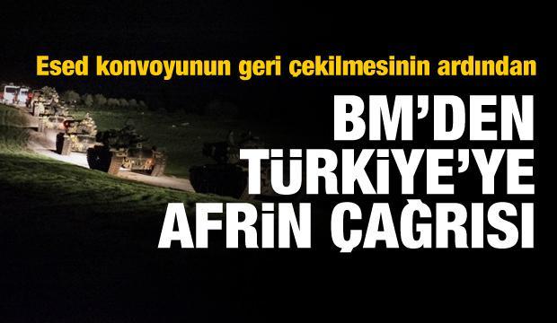 BM'den Türkiye'ye Afrin mesajı