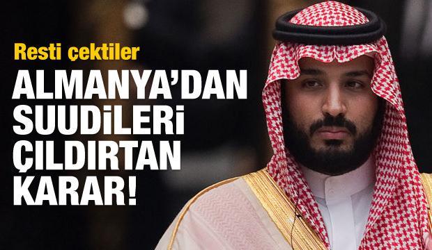 Almanya'dan Suudileri çıldırtan karar!