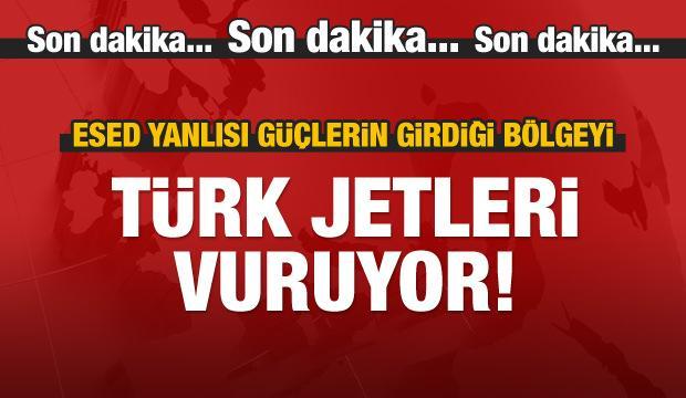 Türk jetleri konvoyun girdiği bölgeyi bombalıyor!