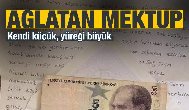 Okul harçlığını Afrin'deki Mehmetçiğe gönderdi