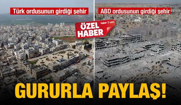 Afrin'de dikkat çeken kare!