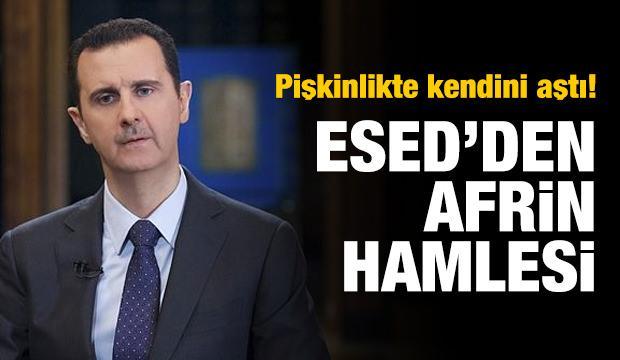 Esed rejiminden Afrin hamlesi