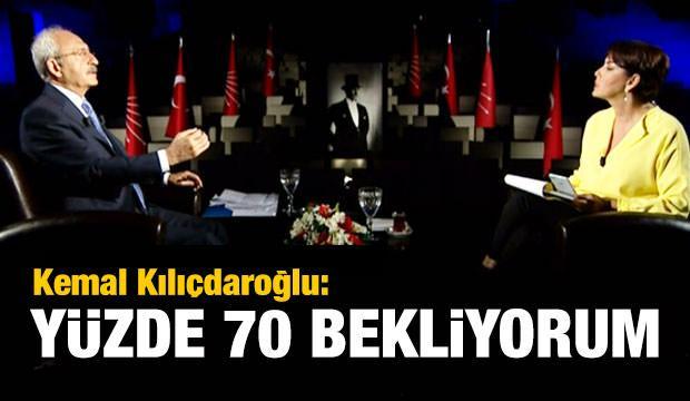 Kemal Kılıçdaroğlu: Yüzde 70 bekliyorum