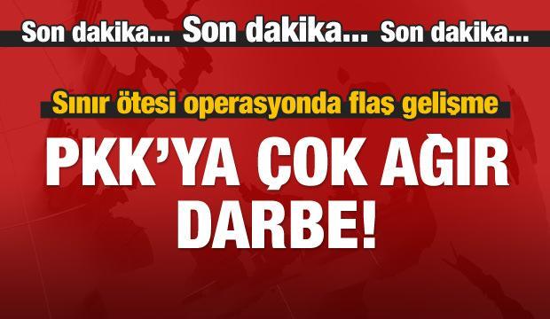 Sınır ötesi operasyonda flaş gelişme: PKK şokta!