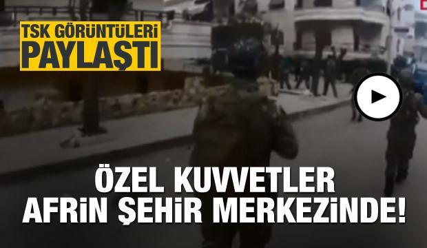 TSK görüntü paylaştı! Afrin'de Özel Kuvvetler...