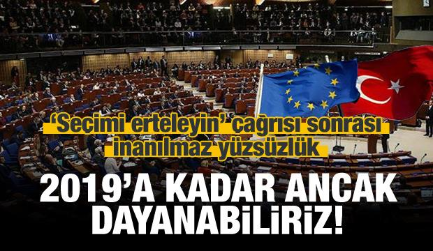 Avrupa Konseyi: Türkiye olmazsa, 2019'da biteriz