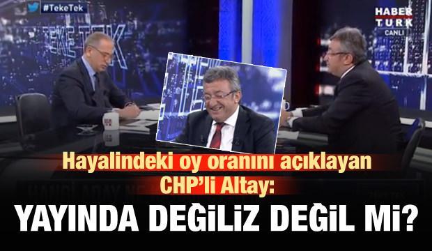 CHP'li Altay'dan 'atmasyon' seçim tahmini