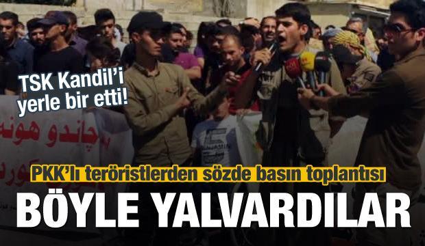 PKK'lı teröristlerden sözde basın toplantısı